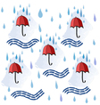 Colorfull seamless background with red umbrellas vector image vector image