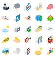 computer support icons set isometric style vector image vector image