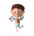 cupid cartoon icon vector image vector image