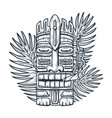 design hawaii tiki mask and surf ethnic totem vector image vector image