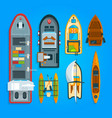 different sea boats and ships vector image vector image