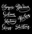 diving sport hand written typography vector image vector image