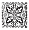 doodad is a dark and long leaves pattern vintage vector image vector image