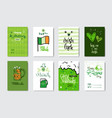doodle greeting cards for happy st patrick day vector image