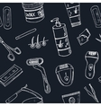 Doodle seamless pattern with hair removal tools vector image vector image