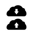 download app icon data cloud transfer black icon vector image