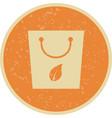 eco bag icon vector image vector image