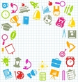 Education Flat Colorful Simple Icons vector image vector image