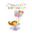 fairy birthday card vector image vector image