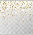 golden glitter confetti carnaval paper tin vector image vector image