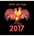 Greeting Christmas card with a rooster vector image vector image