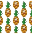 Happy tropical pineapple seamless pattern vector image vector image
