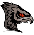head of cartoon eagle vector image vector image