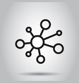 hub network connection sign icon in flat style vector image vector image
