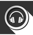 icon - headphones with shadow vector image