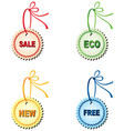 Labels for design sales and promotions vector image vector image