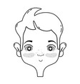 line man face with hairstyle design vector image vector image