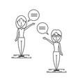 line woman people conversation concept vector image