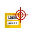 login icon flat style vector image vector image