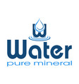 logo mineral water vector image vector image