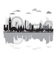 london skyline silhouette 9 vector image vector image