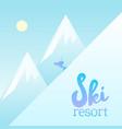 magnificent ski resort poster vector image
