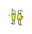 male female icon design vector image vector image