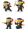 Ninja Customizable Mascot 14 vector image