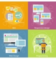 Programmer SEO and Responsive Web Design vector image