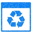 Recycle Calendar Page Grainy Texture Icon vector image vector image