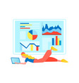remote work concept web analytics vector image vector image