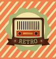 retro vintage radio music vector image vector image