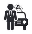 sale car icon vector image vector image