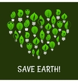 Save Earth Green energy elements vector image vector image
