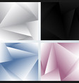 set abstract background 3d white gray black vector image vector image