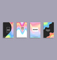 set of banners with colorful gradient backdrops vector image