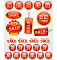 Set of Retail Sale Labels vector image vector image