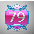 Seventy nine years anniversary celebration silver vector image vector image