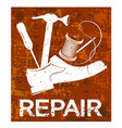 shoe repair poster vector image