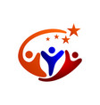 star success community partner template symbol vector image vector image