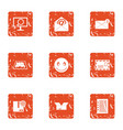state mail icons set grunge style vector image vector image