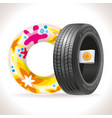 summer tire and rubber ring vector image vector image