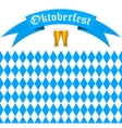 Symbols Oktoberfest beer and Bavarian flag vector image