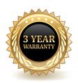 Three Year Warranty vector image