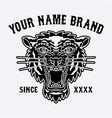 tiger head logo for clothing vector image vector image