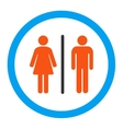 Toilets Rounded Icon vector image vector image