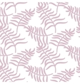 Tropical jungle palm leaves pastel pink color vector image vector image
