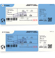variants of blue boarding pass airplane tickets vector image vector image