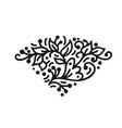 vintage scandinavian monoline flourish monogram vector image vector image