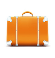 vintage suitcase vector image vector image